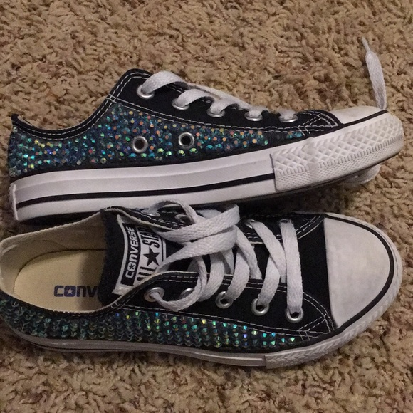 43e5818f6350 Converse Other - Jeweled converse sneakers
